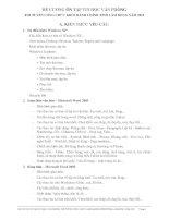 ĐỀ CƯƠNG ÔN TẬP TIN HỌC VĂN PHÒNG THI TUYỂN CÔNG CHỨC KHỐI HÀNH CHÍNH TỈNH LÂM ĐỒNG NĂM 2012