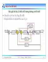 Bài giảng lý thuyết điều khiển tự động - Mô hình toán học, hệ thống điều khiển liên tục part 6 pps