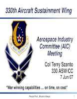 330th Aircraft Sustainment Wing Aerospace Industry Committee (AIC) Meeting phần 1 pps