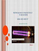 Báo cáo môn Kỹ thuật chiếu sáng: Đèn natri áp suất thấp