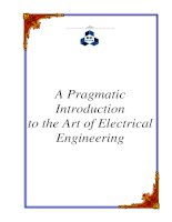 A Pragmatic Introduction to the Art of Electrical Engineering pdf