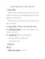 Tiết 48: KIỂM TRA 1 TIẾT- BÀI SỐ 3 ppsx