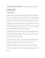 Sinh học lớp 9 - Bài 36: Các phương pháp chọn lọc docx