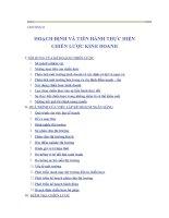 CHƯƠNG 8 HOẠCH ĐỊNH VÀ TIẾN HÀNH THỰC HIỆN CHIẾN LƯỢC KINH DOANH ppsx