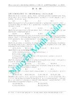 Đề ôn luyện thi môn hóa học - đề 1 docx