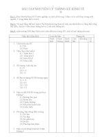 Bài tập Nguyên lí thống kê kinh tế doc