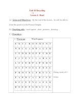 Giáo án Tiếng Anh lớp 8: Unit 10 Recycling Lesson 4 : Read ppt