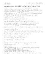 Chuyên đề phương pháp tọa độ trong không gian pdf