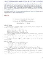 Tuyển tập 50 đề thi học sinh giỏi Hóa học lớp 9 (kèm đáp án)  phần 2