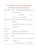 Giáo án Hóa Học lớp 10: SỰ BIẾN ĐỔI TUẦN HOÀN CẤU HÌNH ELECTRON NGUYÊN TỬ CÁC NGUYÊN TỐ HÓA HỌC potx