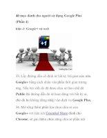 40 mẹo dành cho người sử dụng Google Plus (Phần 4) pptx