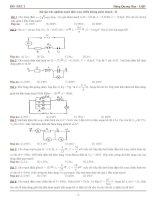 Bài tập trắc nghiệm mạch điện xoay chiều không phân nhánh - 01 ppt