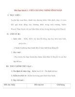Giáo án Tin Học lớp 8 Ban Tự Nhiên: Bài thực hành 2 : VIẾT CHƯƠNG TRÌNH TÍNH TOÁN pdf