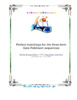 Perfect matchings for the three-term Gale-Robinson sequences pdf