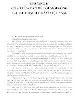 CHƯƠNG 1: CƠ SỞ CỦA VẤN ĐỀ ĐỔI MỚI CÔNG TÁC KẾ HOẠCH HOÁ Ở VIỆT NAM doc
