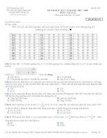 Đề Thi thử học kỳ I môn vật lý 12 - Sở GD& ĐT Thừa Thiên Huế Trường THPT Thuận An potx