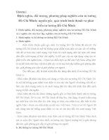 Chương 1: Định nghĩa, đối tượng, phương pháp nghiên cứu tư tưởng Hồ Chí Minh; nguồn gốc, quá trình hình thành và phát triển tư tưởng Hồ Chí Minh potx