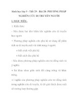 Sinh học lớp 9 - Tiết 29 - Bài 28: PHƯƠNG PHÁP NGHIÊN CỨU DI TRUYỀN NGƯỜI pdf