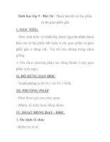 Sinh học lớp 9 - Bài 34: Thoái hoá do tự thụ phấn và do giao phối gần pdf
