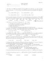 Kiểm Tra 45 phút Môn: Vật lý 12 - Mã đề 001 pptx