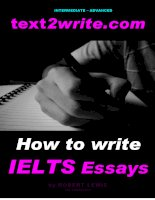 How to write IELTS Essays ppsx