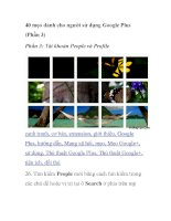 40 mẹo dành cho người sử dụng Google Plus (Phần 3) docx