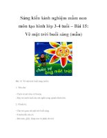 Sáng kiến kinh nghiệm mầm non môn tạo hình lớp 3-4 tuổi – Bài 15: Vẽ mặt trời buổi sáng (mẫu) ppt