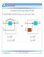 Bài giảng lý thuyết điều khiển tự động - Mô hình toán học, hệ thống điều khiển liên tục part 5 potx