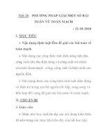 Tiết 20. PHƯƠNG PHÁP GIẢI MỘT SỐ BÀI TOÁN VỀ TOÀN MẠCH pps