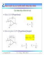 Bài giảng lý thuyết điều khiển tự động - Mô hình toán học, hệ thống điều khiển liên tục part 3 pps