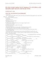 ÔN THI TNTHPT KHÓA NGÀY 2/06/2011 CỦA TỔ TIẾNG ANH TRƯỜNG THPT QUANG TRUNG ĐÀ NẴNG doc
