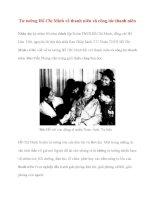 Tài liệu Tư tưởng Hồ Chí Minh: Tư tưởng Hồ Chí Minh về thanh niên và công tác thanh niên ppt