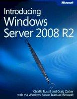 Introducing Microsoft Windows sever 2008 r2 phần 1 pot