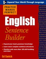 Practice Makes Perfect - English Sentence Builder docx