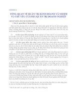 Quản lý Doanh nghiệp: CHƯƠNG 1 TỔNG QUAN VỀ QUẢN TRỊ KINH DOANH VÀ NHIỆM VỤ CHỦ YẾU CỦA NHÀ QUẢN TRỊ DOANH NGHIỆP doc