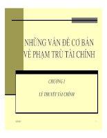 Bài giảng tài chính tiền tệ - Chương 1 pdf