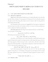 Chương 1 NHỮNG KHÁI NIỆM VÀ ĐỊNH LUẬT CƠ BẢN CỦA HÓA HỌC docx