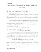Chương 1 NHỮNG KHÁI NIỆM VÀ ĐỊNH LUẬT CƠ BẢN CỦA HÓA HỌC pptx