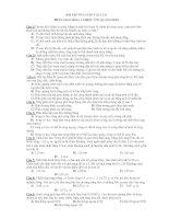 BÀI TẬP ÔN LUYỆN VẬT LÍ 12 PHẦN GIAO THOA VÀ HIỆU ỨNG QUANG ĐIỆN doc