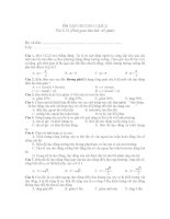 ÔN TẬP CHƯƠNG I (Đề 2) Vật lí 12 doc