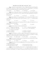 ĐỀ KIỂM TRA KIẾN THỨC HÓA HỌC - ĐỀ 4 ppt