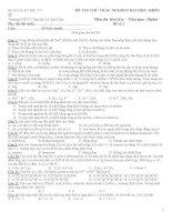 ĐỀ THI THỬ TRẮC NGHIỆM ĐẠI HỌC- KHỐI 12 Trường THPT Chuyên Lê Quí Đôn Môn thi: Hoá potx