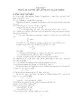 Thống kê doanh nghiệp - Phần 1 Tóm tắt lý thuyết và các bài tập cơ bản - Chương 5 pptx
