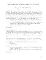 MỘT SỐ ĐỀ THI VÀ CÁC DẠNG CÂU HỎI VÀO CÁC NGÂN HÀNG pdf
