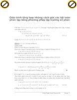 Giáo trình tổng hợp những cách giải các bài toán phức tạp bằng phương pháp lập trường số phức phần 1 pptx