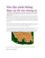 Sữa đậu nành không thực sự tốt cho chúng ta pdf