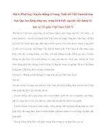 Tư tưởng Hồ Chí Minh: Bài 6: Phát huy truyền thống vẻ vang, Tuổi trẻ Việt Nam thi đua học tập, lao động sáng tạo, xung kích tình nguyện xây dựng và bảo vệ Tổ quốc Việt Nam XHCN potx