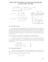 Giáo trình hình thành các phương pháp để giái một bài toán về nhiệt phần 1 pptx