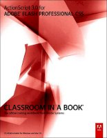 adobe press ActionScript 3.0 for ADOBE FLASH PROFESSIONAL CS5 Classroom in a Book phần 1 ppt