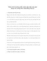 Giáo trình hướng dẫn cách sắp xếp các giai đoạn thi công trên mặt bằng hợp lý phần 1 pdf
